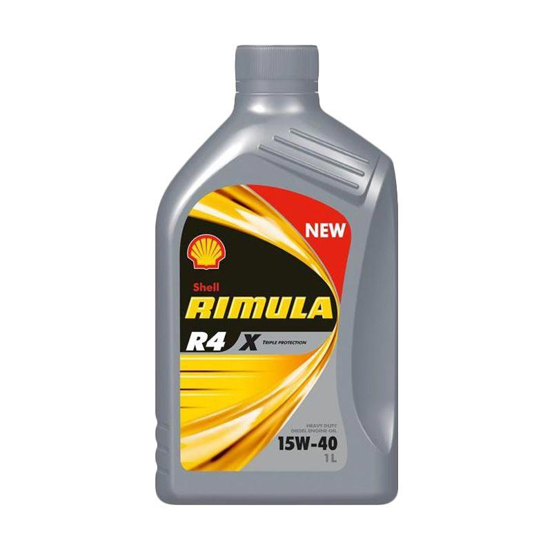 Shell Rimulla R4X 15W - 40 Oli Pelumas for Mobil [1 L]