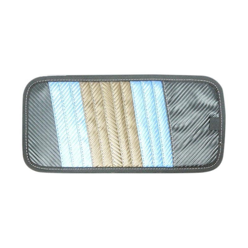 SIV A-807 CD Carbon Organizer Sunvisor - Rainbow
