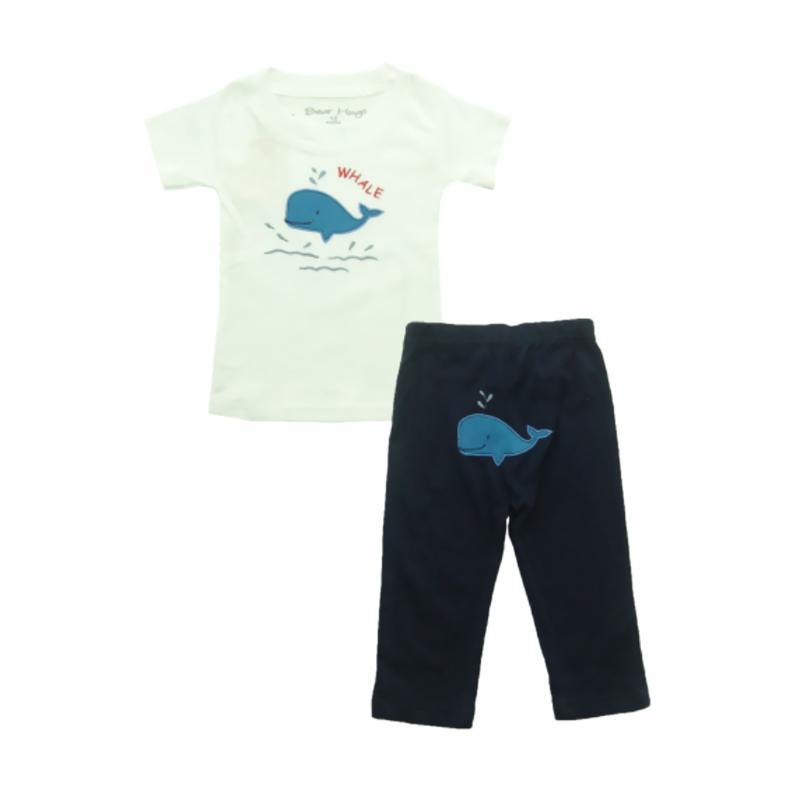 Bearhug Hiu Set Pakaian Bayi Laki-laki [2 pcs] - Putih