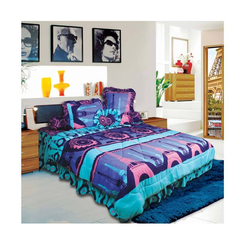 California Motif Eiffel Bed Cover Set [180 x 200 cm]