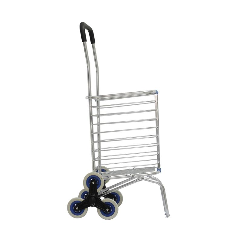 Machindo Troli Belanja Barang Lipat Aluminium Troli Serbaguna [3 wheels] - Trolley Bag