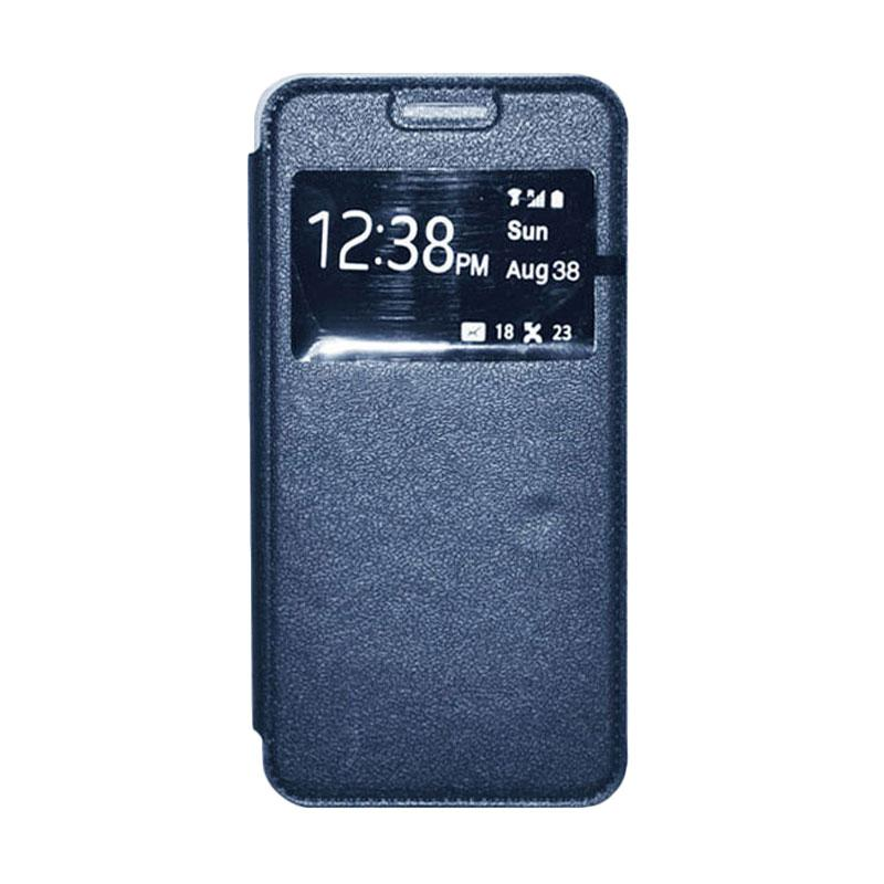 OEM Leather Book Cover Casing for Xiaomi M3 - Navy