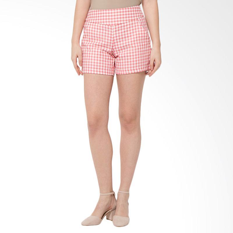 SJO & Simpaply Sanremo Check Women's Celana Wanita - Pink