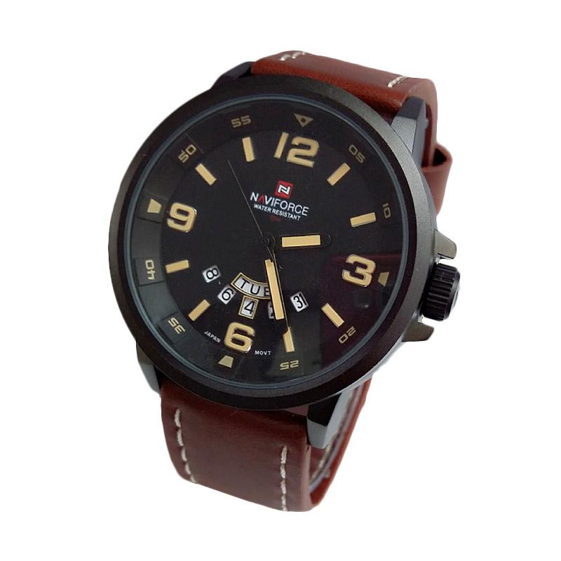 Naviforce - NF9028DB - Jam Tangan Pria - Dark Brown