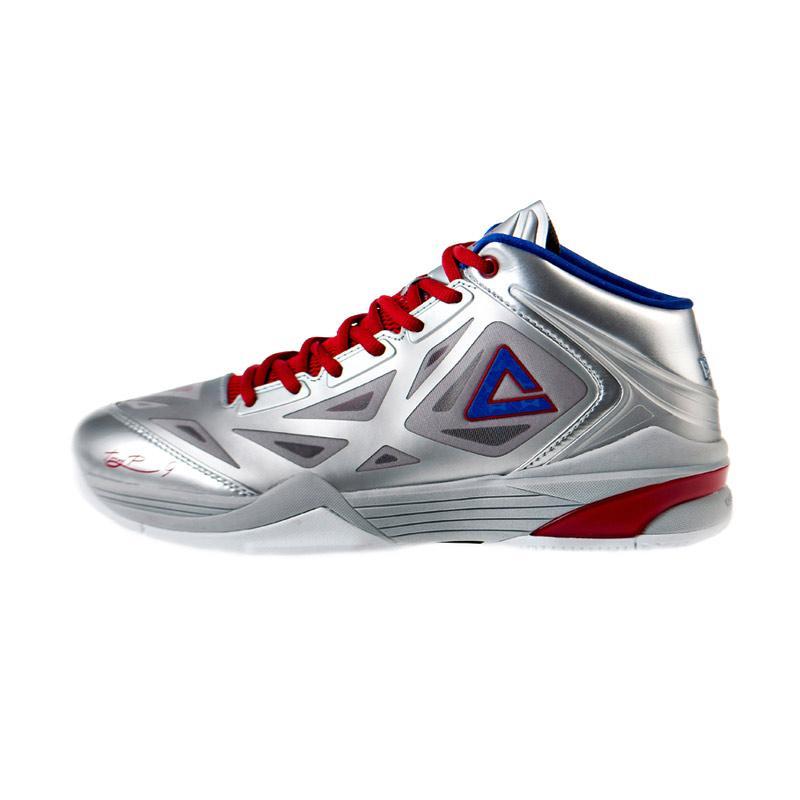 harga PEAK Tony Parker TP9 Sepatu Basket - Silver E33323A Blibli.com