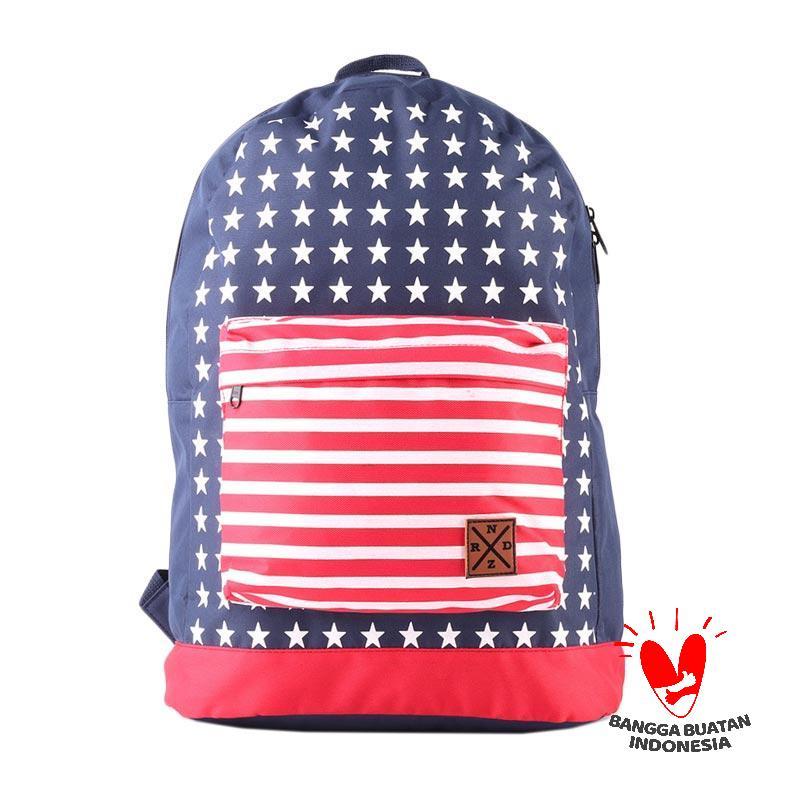 Raindoz Usa Flag Backpack RDN 018 Tas Pria - Biru