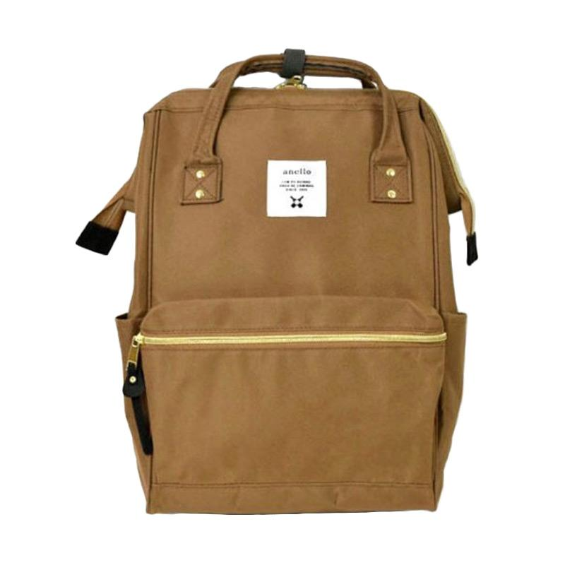 Anello Oxford Backpack Tas Ransel [Size L] - Beige