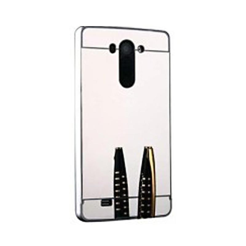 Bumper Mirror Sliding Casing for LG G4 - Silver