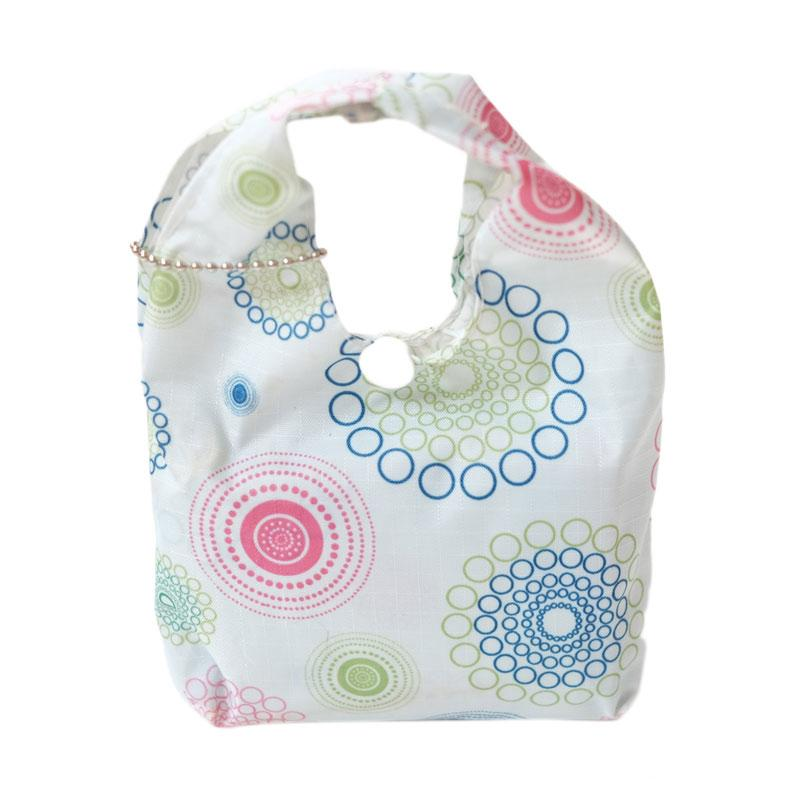 Deeneve Foldable Eco-Bag Geometric Tote Bag - Mint