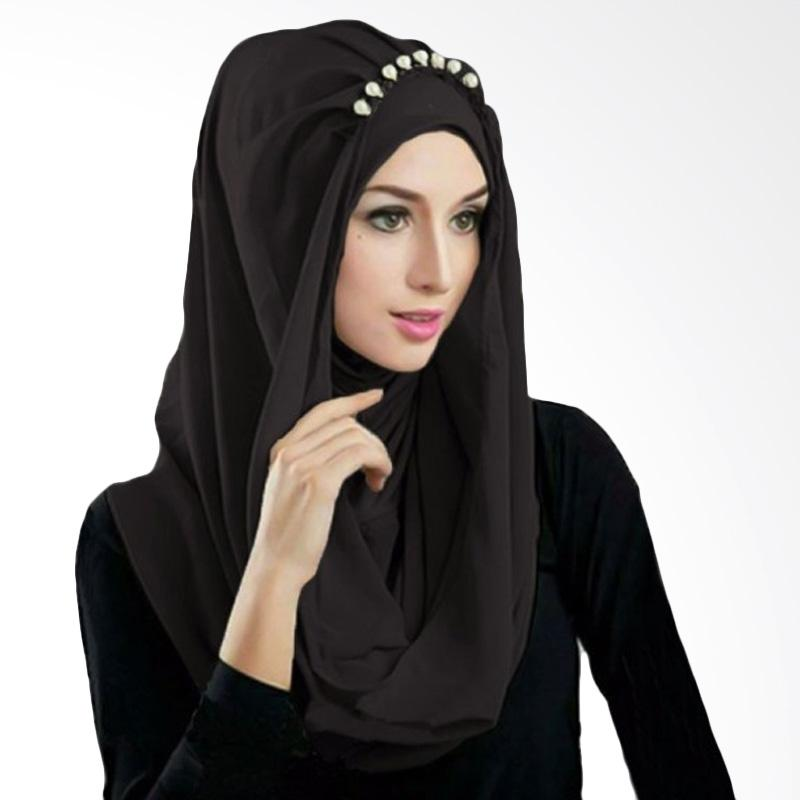 Kus Group Hijab Deeja Pearly Bergo - Hitam
