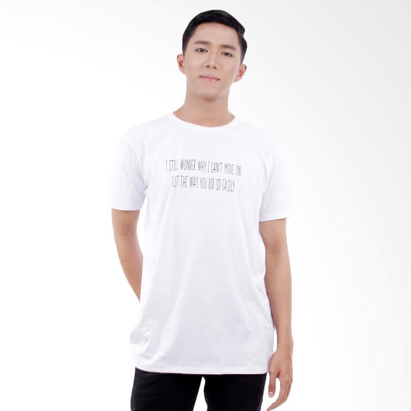 Word.o T-shirt Move On Lengan Pendek Kaos Pria - Putih Extra diskon 7% setiap hari Extra diskon 5% setiap hari Citibank – lebih hemat 10%