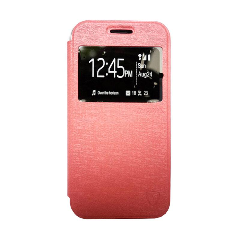 Zagbox Flip Cover Casing for Oppo R1 X - Pink