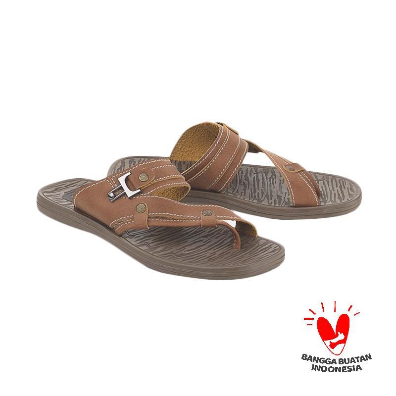 harga Blackkelly LRS 631 Sandal Casual Pria - Coklat Blibli.com