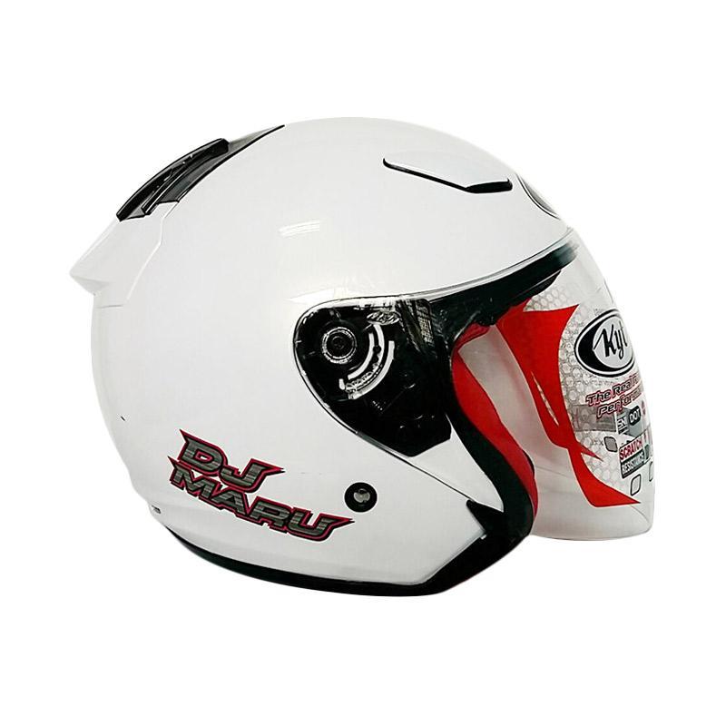 harga KYT DJ Maru Helm Motor Half Face - Solid White Pearl Gold Blibli.com