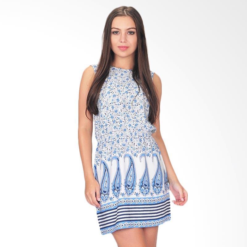 SJO & Simpaply Natalia Print Womens Dress - White