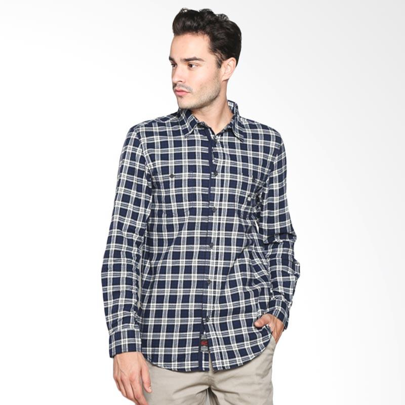 3Ssecond Relaxed Fit Shirt Atasan Pria - Blue 118041711