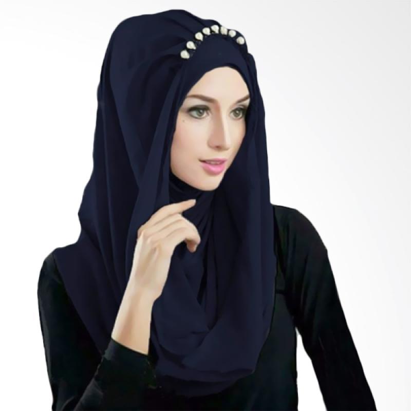 Kus Group Hijab Deeja Pearly Bergo - Navy