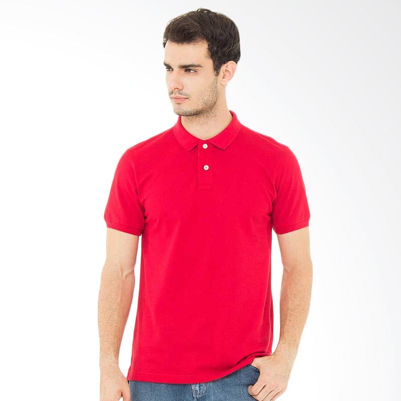 Svperbia T-Shirt The Essential Kaos Polo Pria - Red Extra diskon 7% setiap hari Extra diskon 5% setiap hari