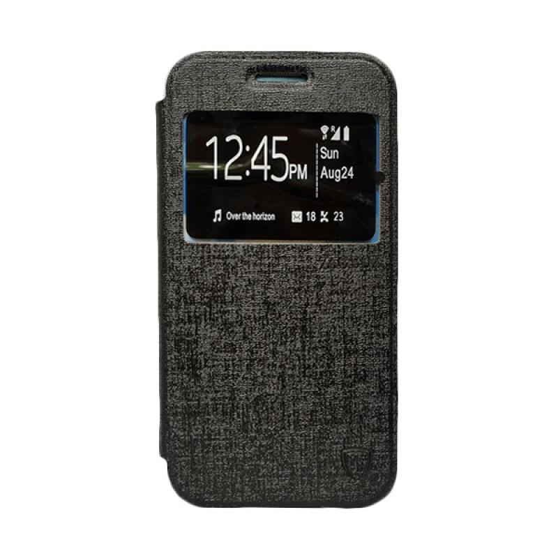 Zagbox Flip Cover Casing for Samsung Galaxy A510 A5 2016 - Hitam