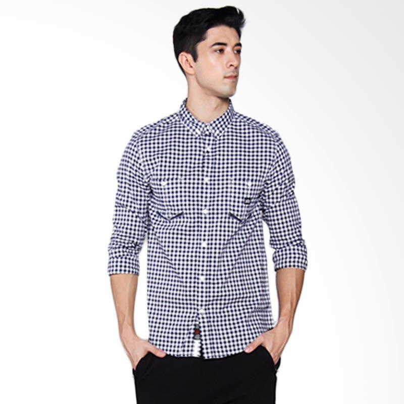 3SECOND Relaxed Fit Kemeja Pria - Blue [117041711]