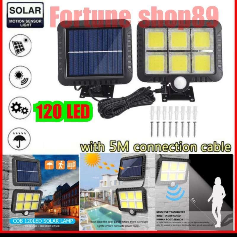 Jual Lampu Taman Solar 120 Led Tenaga Surya Lampu Sorot Sensor Gerak Online April 2021 Blibli
