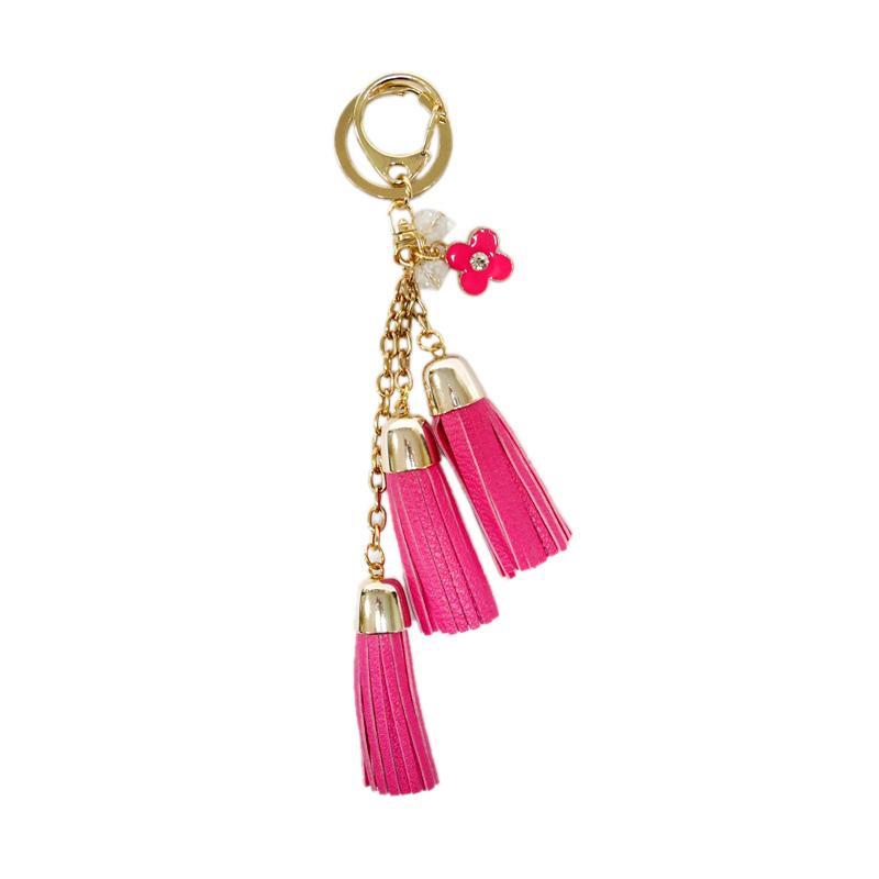 SIV KM06 Rumbai 3 Tingkat dan Bunga Gantungan Kunci - Pink