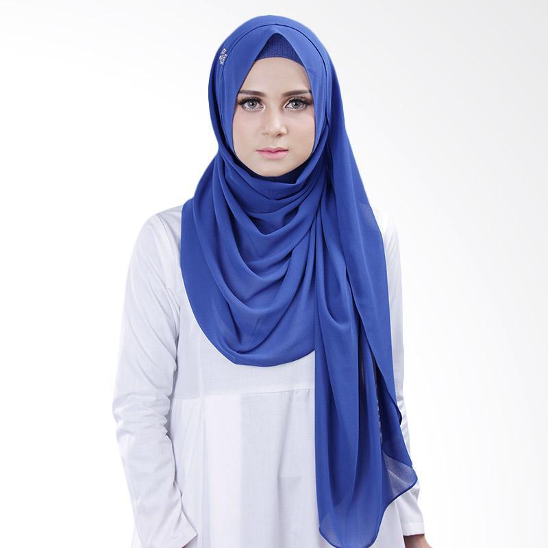Cantik kerudung Bella Queen Hijab Instant - Royal Blue No.18