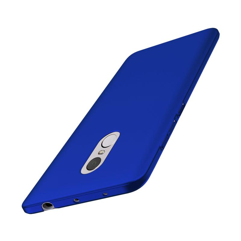 WEIKA Baby Skin Ultra Thin Full Cover Hardcase Casing for Xiaomi Redmi Note 4 - Blue + Free tempered glass 3power