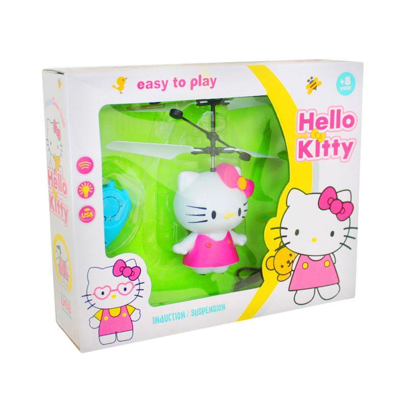 Istana Kado IKO00813 MinI Flying Hello Kitty Mainan Helikopter