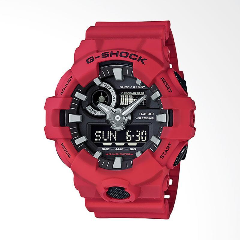 CASIO G-Shock Jam Tangan Pria - Black Red GA-700-4ADR