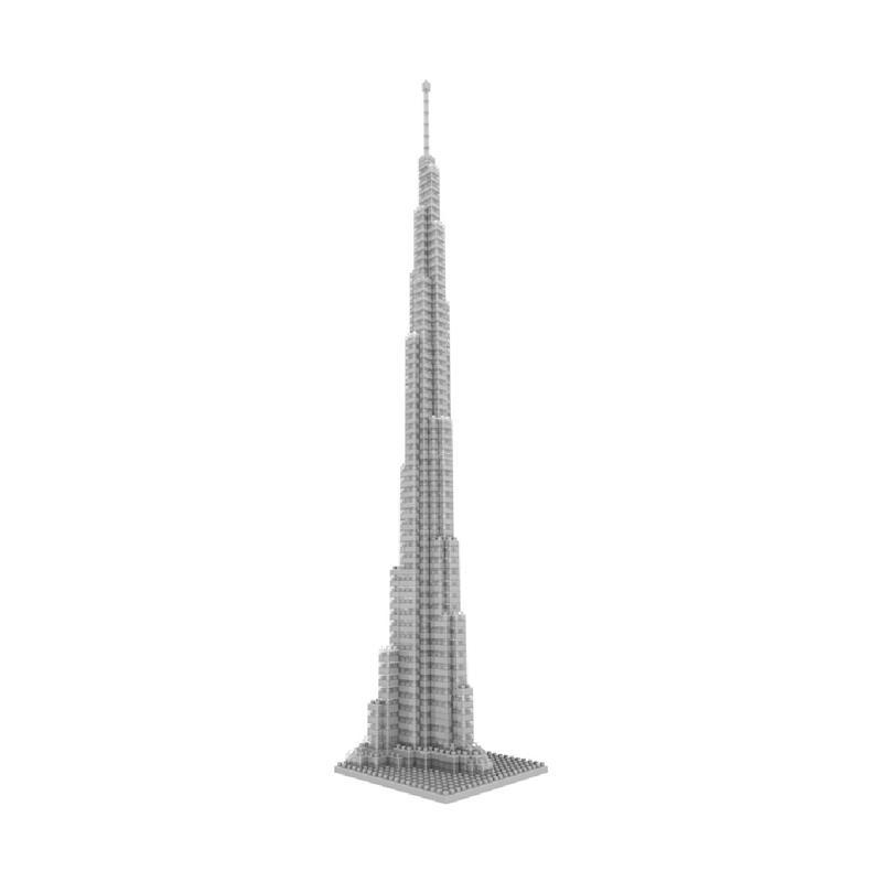 Loz Diamond Block World Famous Architecture series 9370 Burj Khalifa Tower Mainan Blok & Puzzle