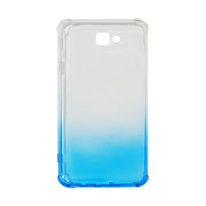 QCF BUY 1 GET 1 Softcase Anti Shock Anti Crack Warna Gradasi Casing for Samsung Galaxy J7 Prime Ultrathin / Case Unik - Biru (Free Warna Random)