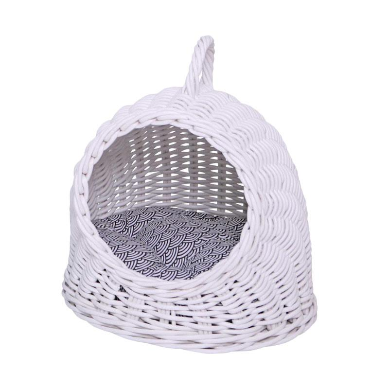 harga kandang, tempat tidur anjing/kucing, keranjang, kurungan, Mylo Peax Tempat Tidur Hewan new - White Blibli.com