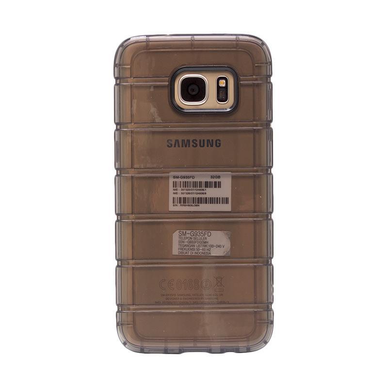 Fashion Case Anti Crack Casing for Samsung S7 Edge - Black