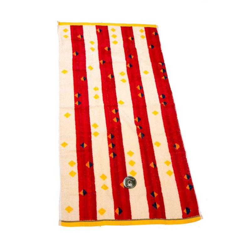 Dixon Red Blue Stripes 7088 Handuk Mandi - Red [70 x 140 cm]