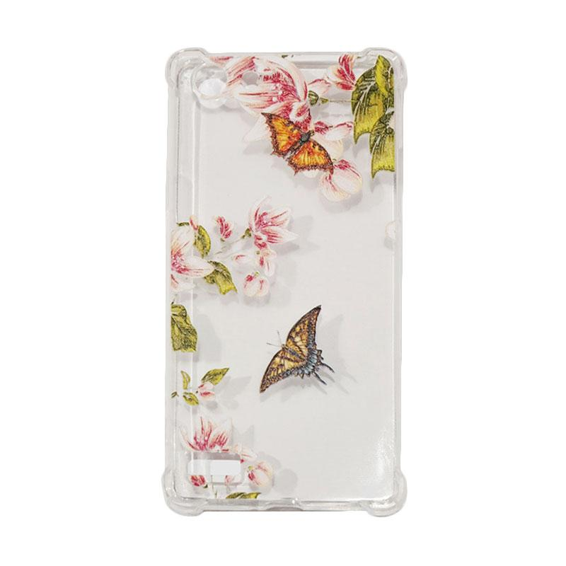 QCF Softcase Anti Crack Anti Shock Oppo A33 Silicone Casing Gambar Butterfly + FREE Bumper Karet Animasi Random for Oppo A33 / Neo 7
