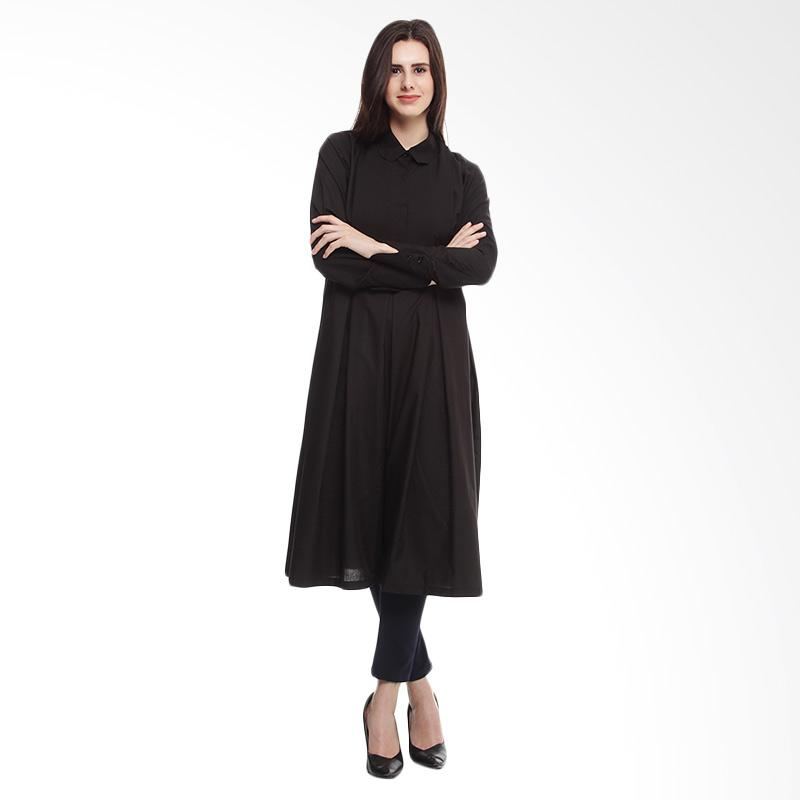 harga Shadrins Nursingstyle Nima Maternity Top Tunik Long Sleeve Baju Menyusui - Black Blibli.com