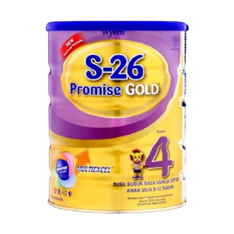 Wyeth S-26 Promise Gold Tahap 4 Vanila Susu Formula [1600 g]