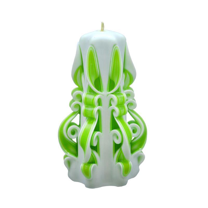 Indische Candle House Crispin Lilin Ukir [6 Inch] Handmade dan Organik Wax
