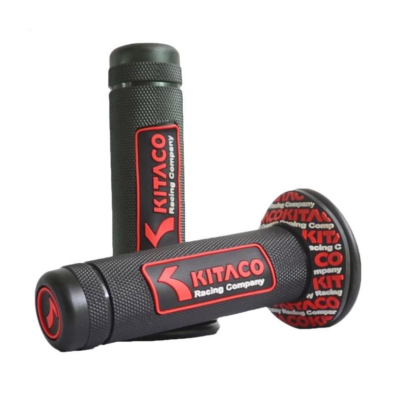 Raja Motor Model Kitaco Timbul Handgrip - Hitam Merah [HAF9058-Kitaco-HitamMerah]