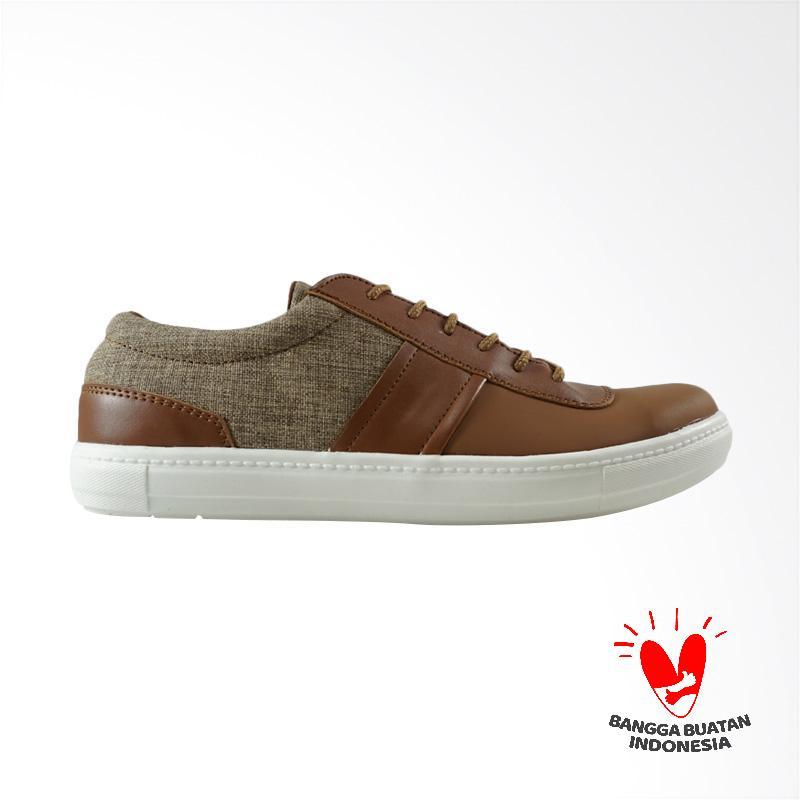 Dane And Dine Liyan Sepatu Sneakers Pria - Brown