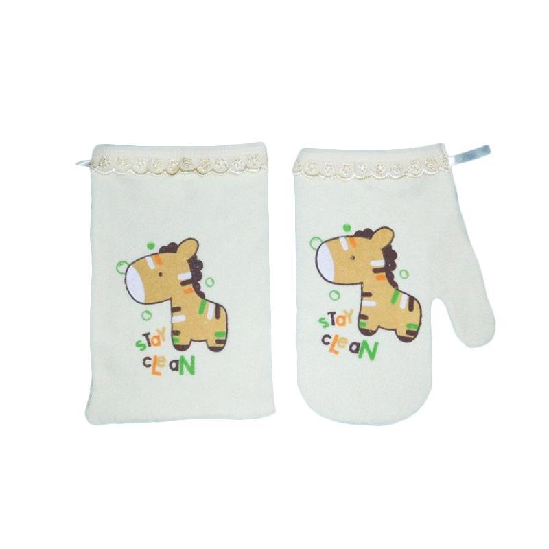 Kiddy Washlap Jari & Kotak Horse Perlengkapan Mandi Bayi - Kuning