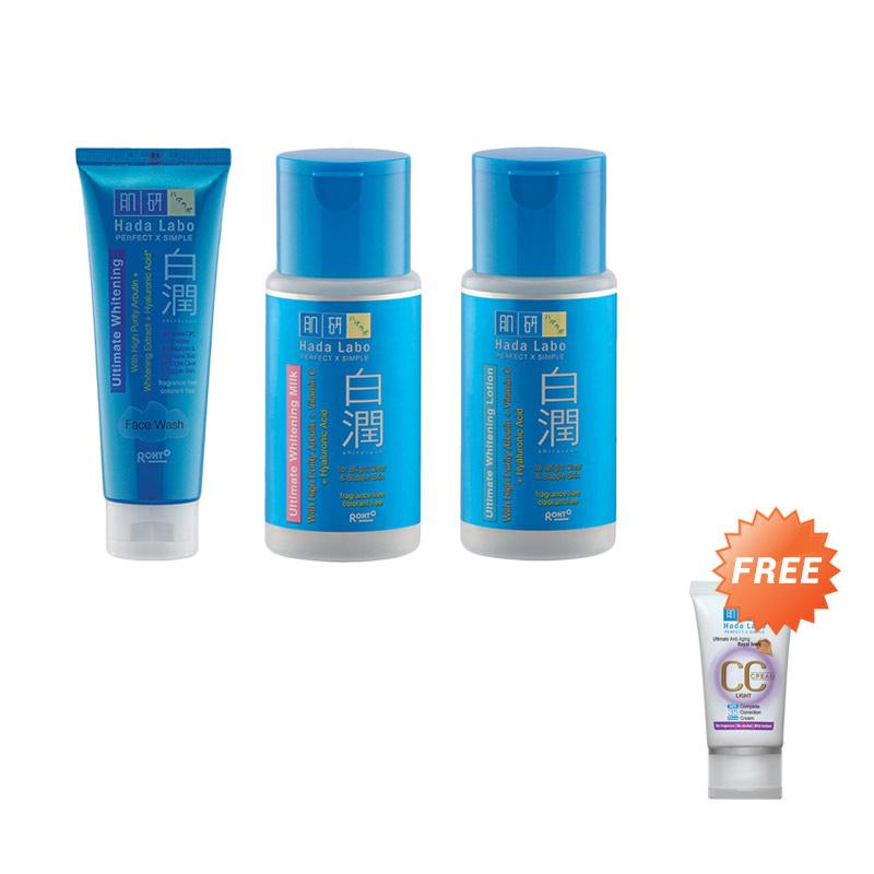 Hada Labo Shirojyun Series Set Perawatan Wajah + Free Hada Labo CC Cream Anti Aging Royal Ivory 25 g