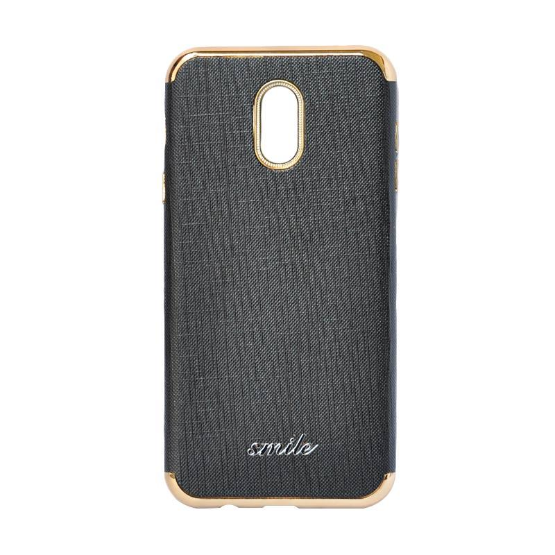 SMILE Silkwood Denim Casing for Samsung Galaxy J7 Plus - Black