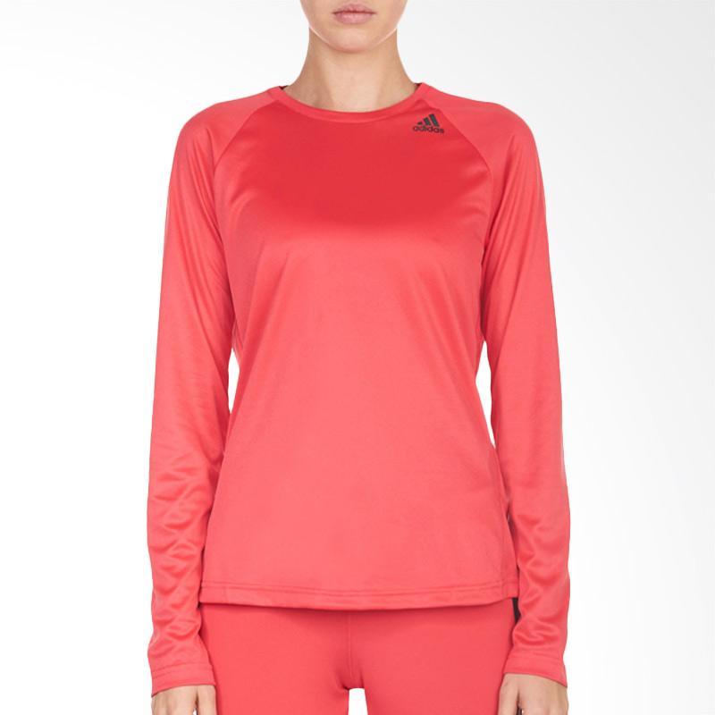 adidas D2M Long sleeves Baju Olahraga Wanita - Pink [BK2719]