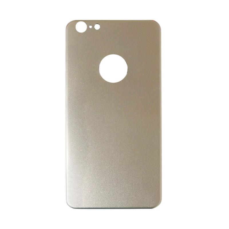 QCF Tempered Glass Aluminium Alloy Back Protector (Belakang Saja) for iPhone 6 Plus / Iphone 6Plus / Iphone 6+ 5.5 Inch Pelindung Belakang - Gold