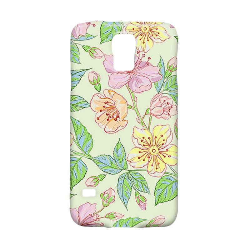 Premiumcaseid Beautiful Flower Wallpaper Hardcase Casing for Samsung Galaxy S5