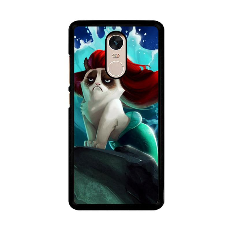 Flazzstore Grumpy Cat And Disney The Little Mermaid Z0023 Custom Casing for Xiaomi Redmi Note 4 or Note 4X Snapdragon Mediatek