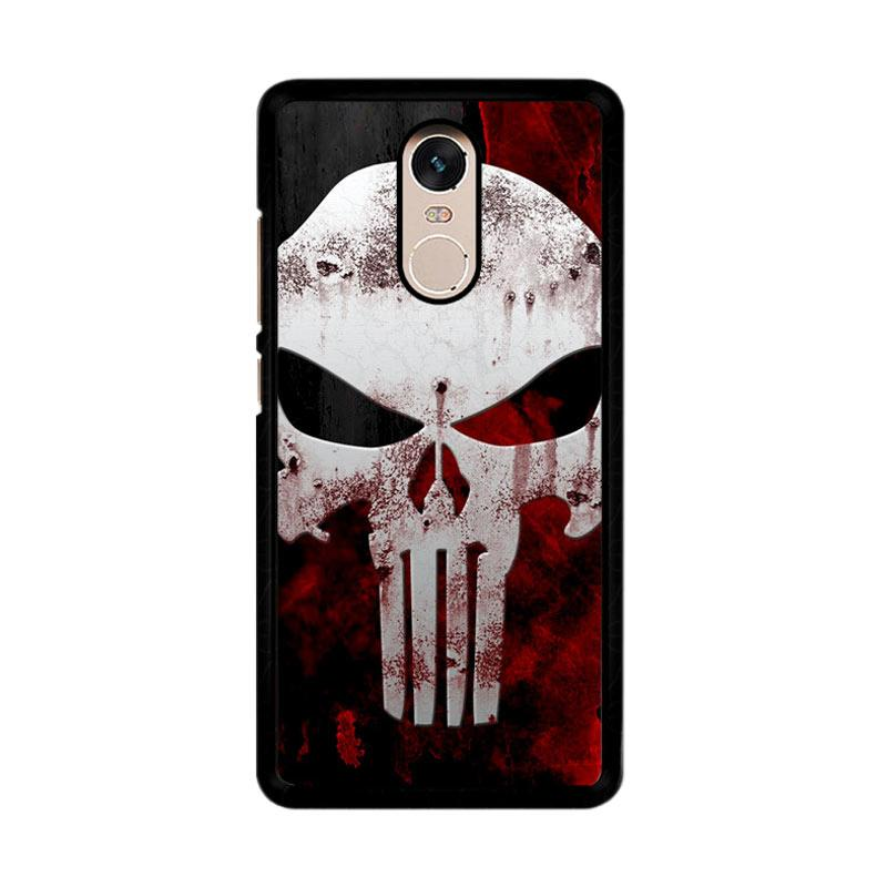 Flazzstore Marvel Superhero Punisher  Logo Z0505 Custom Casing for Xiaomi Redmi Note 4 or Note 4X Snapdragon Mediatek