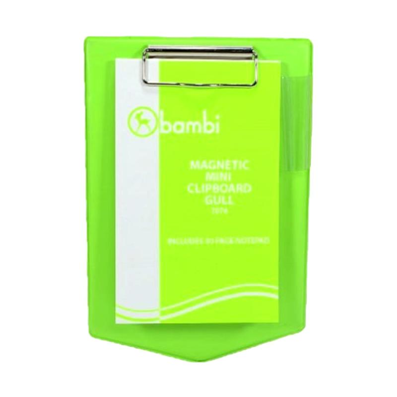 Bambi Gull-7074 Mangnetic Mini Clipboard - Green